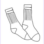 Socks Coloring Page Inspirational Collection Sock Coloring Page At Getcolorings