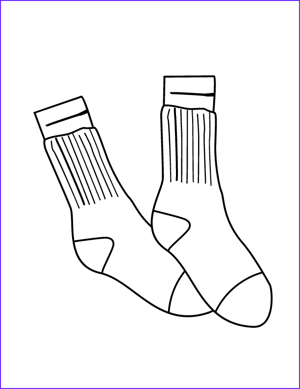sock coloring page