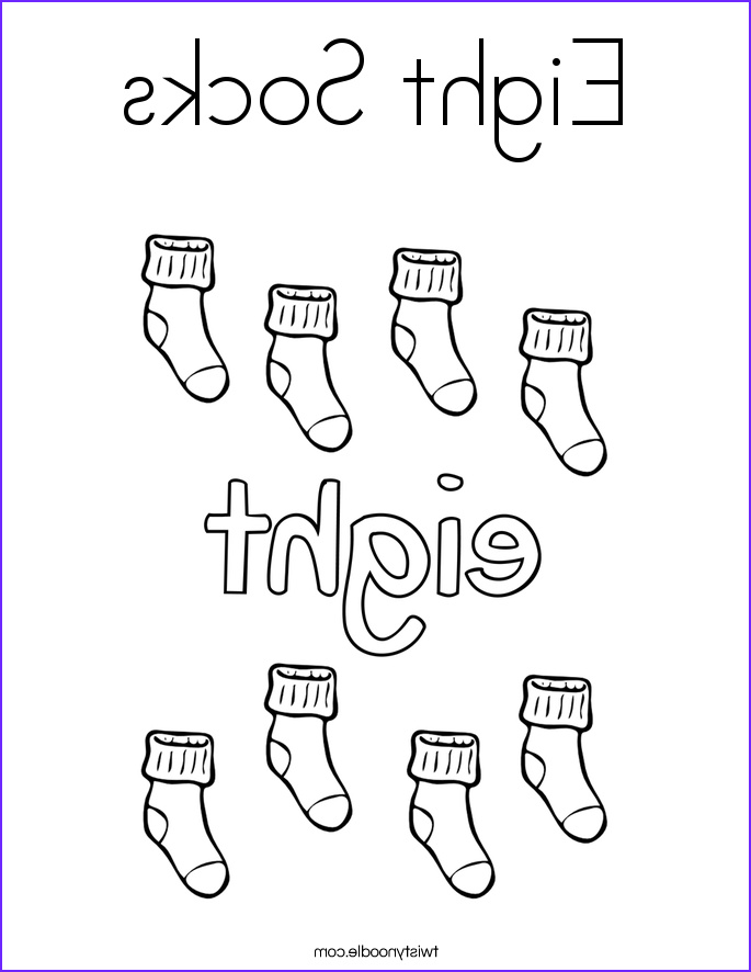 Socks Coloring Page Luxury Photos Eight socks Coloring Page Twisty Noodle