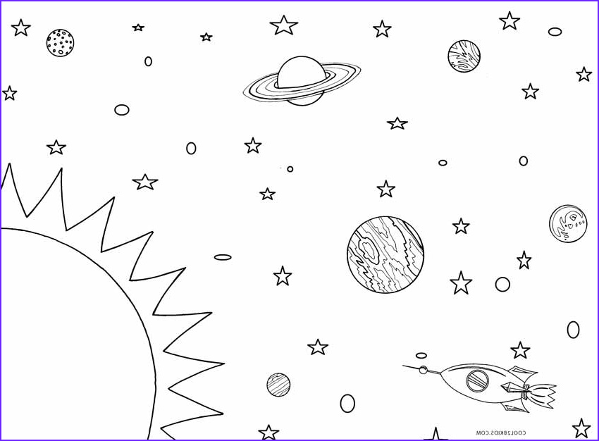 Solar System Coloring Page Beautiful Gallery Printable solar System Coloring Pages for Kids