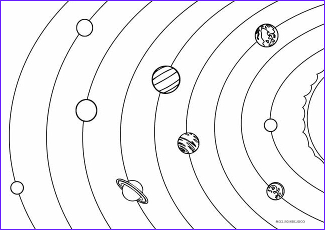 Solar System Coloring Page Beautiful Photos Printable solar System Coloring Pages for Kids