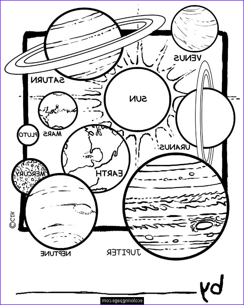 Solar System Coloring Page Beautiful Photos Space solar System Planets Coloring Pages for Kids