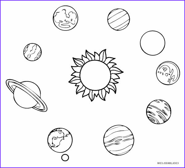 Solar System Coloring Page Cool Photos Printable solar System Coloring Pages for Kids
