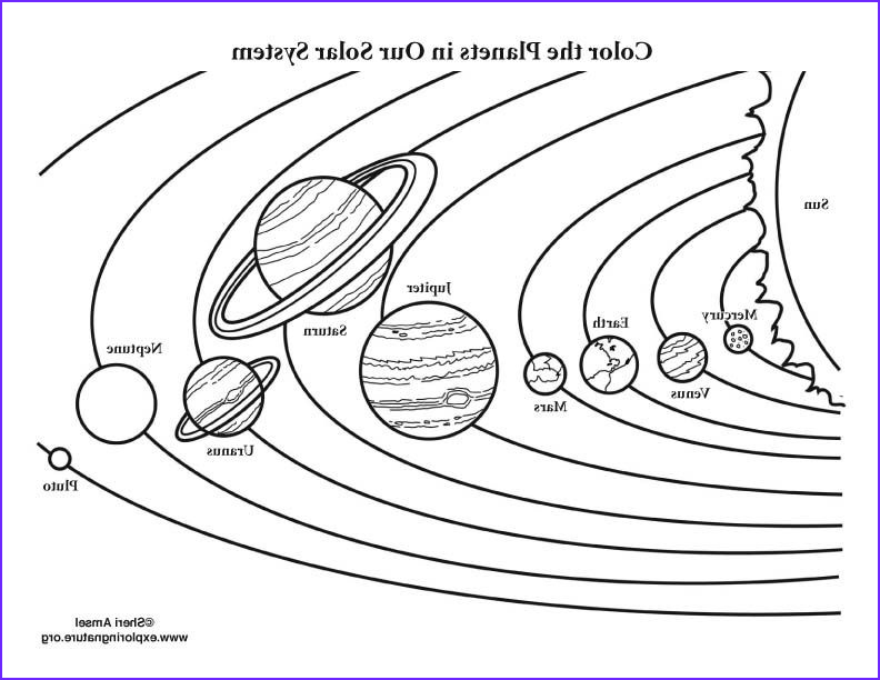 Solar System Coloring Page Luxury Images Color the solar System Colouring Pages