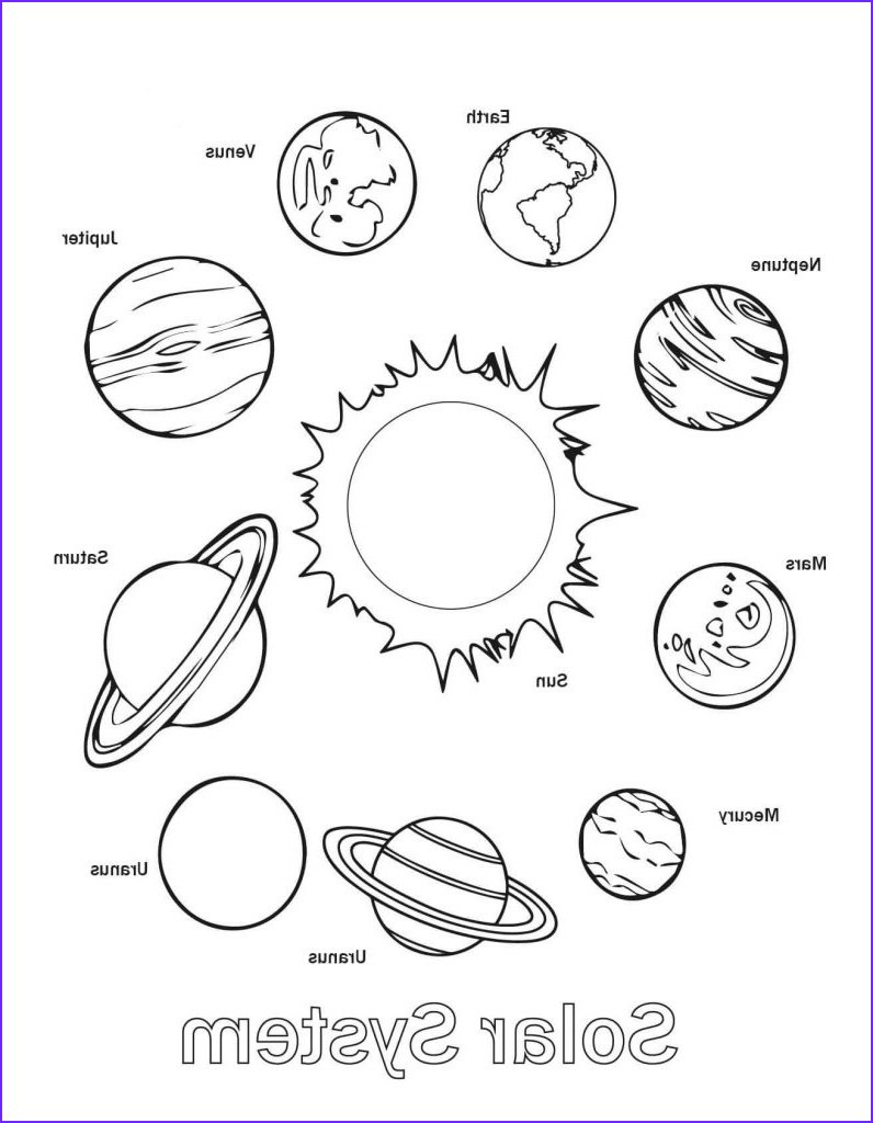 Solar System Coloring Page Luxury Photos Free Printable solar System Coloring Pages for Kids