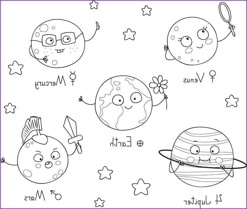 solar system coloring pages
