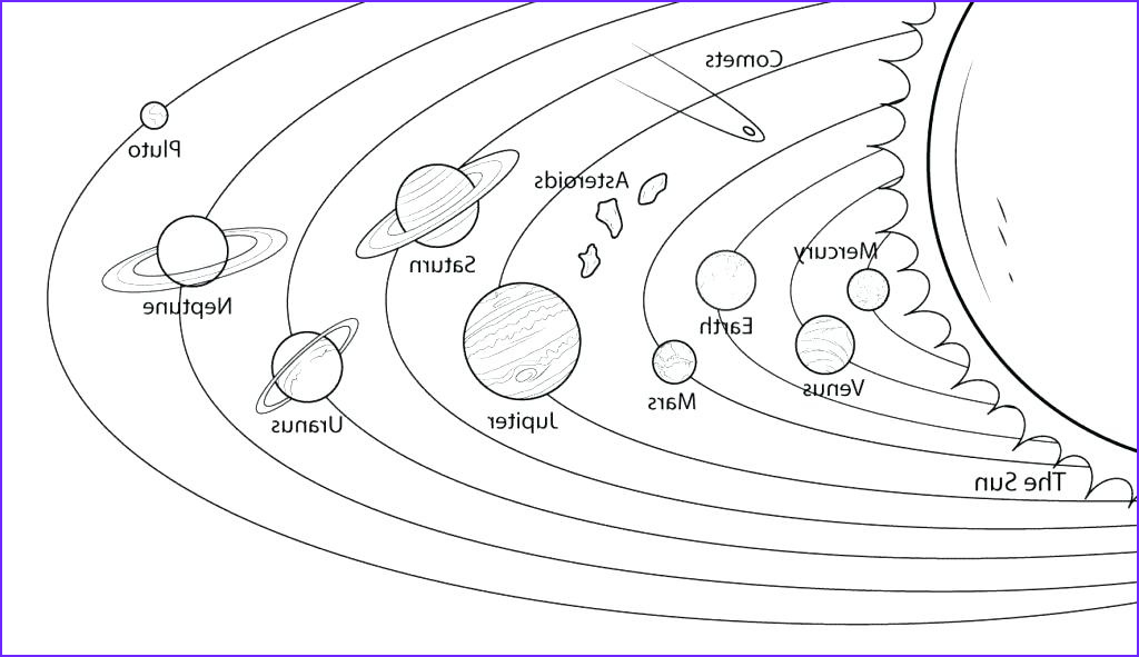 solar system planets drawing