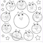 Solar System Planets Coloring New Image Eight Planets Coloring Pages Cartoon Sun Free Printable