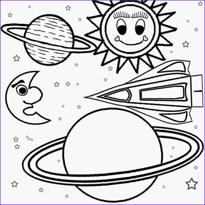 planet and space solar system coloring