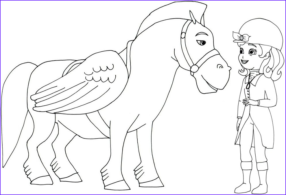 sofia first coloring pages to print