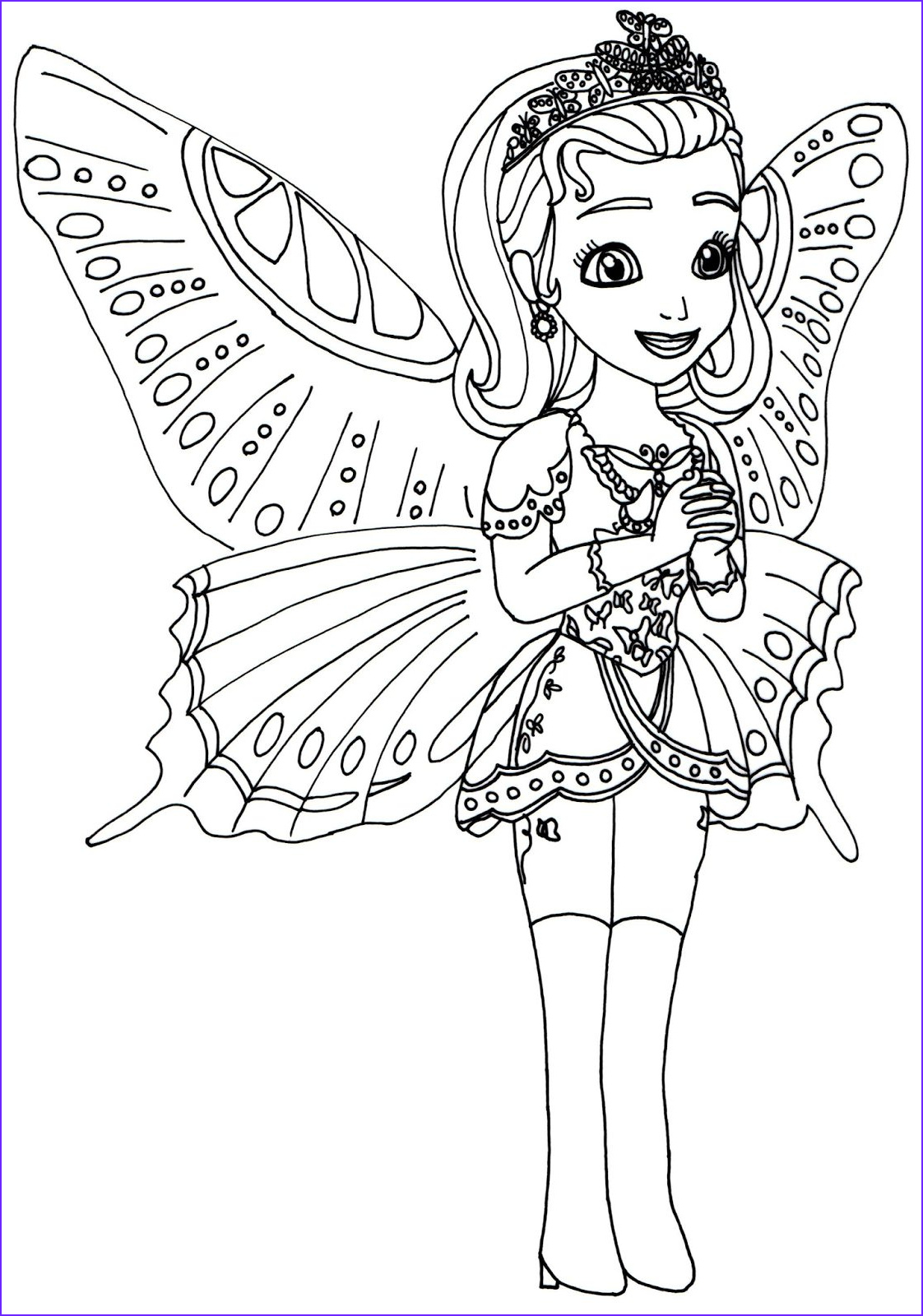 Sophia the First Coloring Book Best Of Photos sofia the First Coloring Pages Princess butterfly sofia