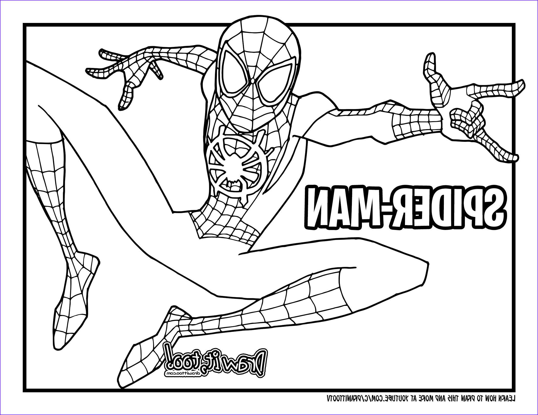 how to draw miles morales spider man into the spider verse drawing tutorial