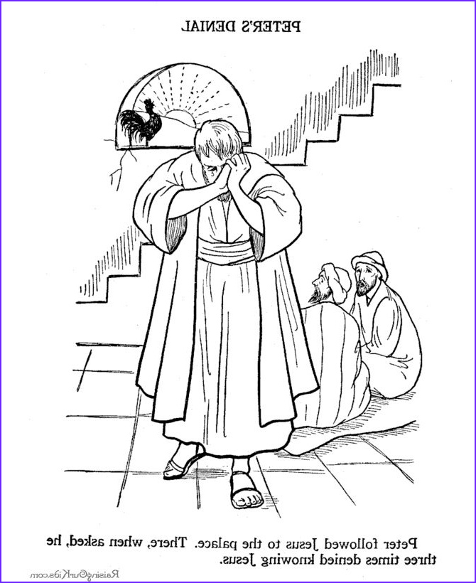 Spiritual Coloring Pages Beautiful Images 1000 Images About Bible Nt Peter Denies Jesus On