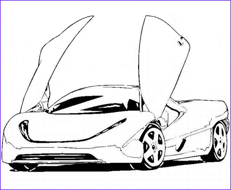 Sports Car Coloring Pages Awesome Collection Free Coloring Sports Cars