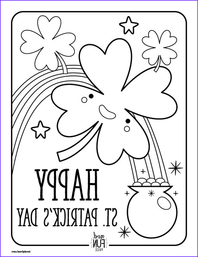 12 st patricks day printable coloring pages for adults kids