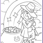 St Patrick Day Coloring Pages New Gallery Leprechaun S Pot Of Gold Coloring Page