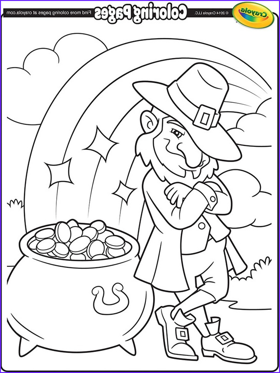 leprechauns pot of gold coloring page
