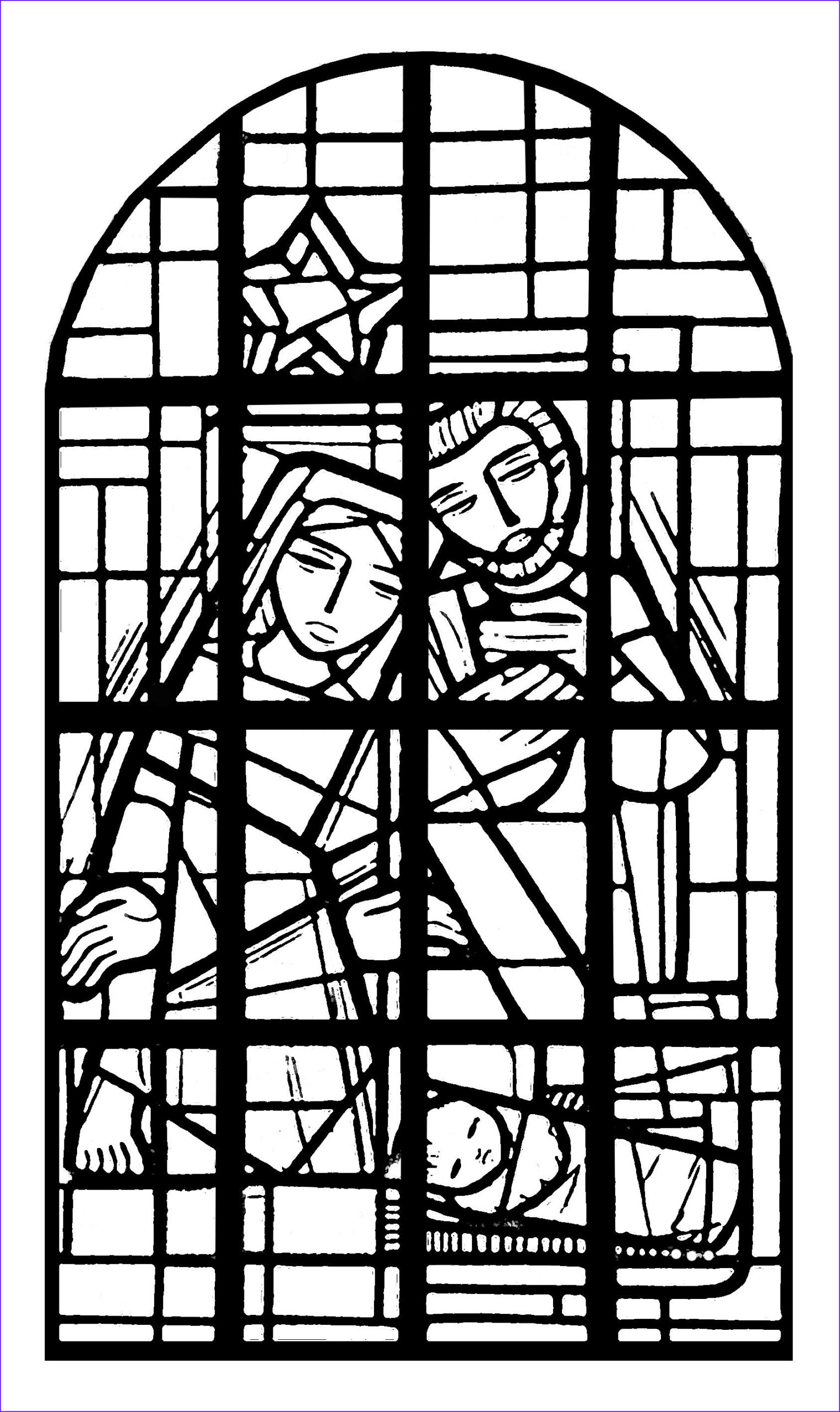 Stained Glass Coloring Pages for Adults Beautiful Photos Coloring Adult Stained Glass Nave Church Immaculee