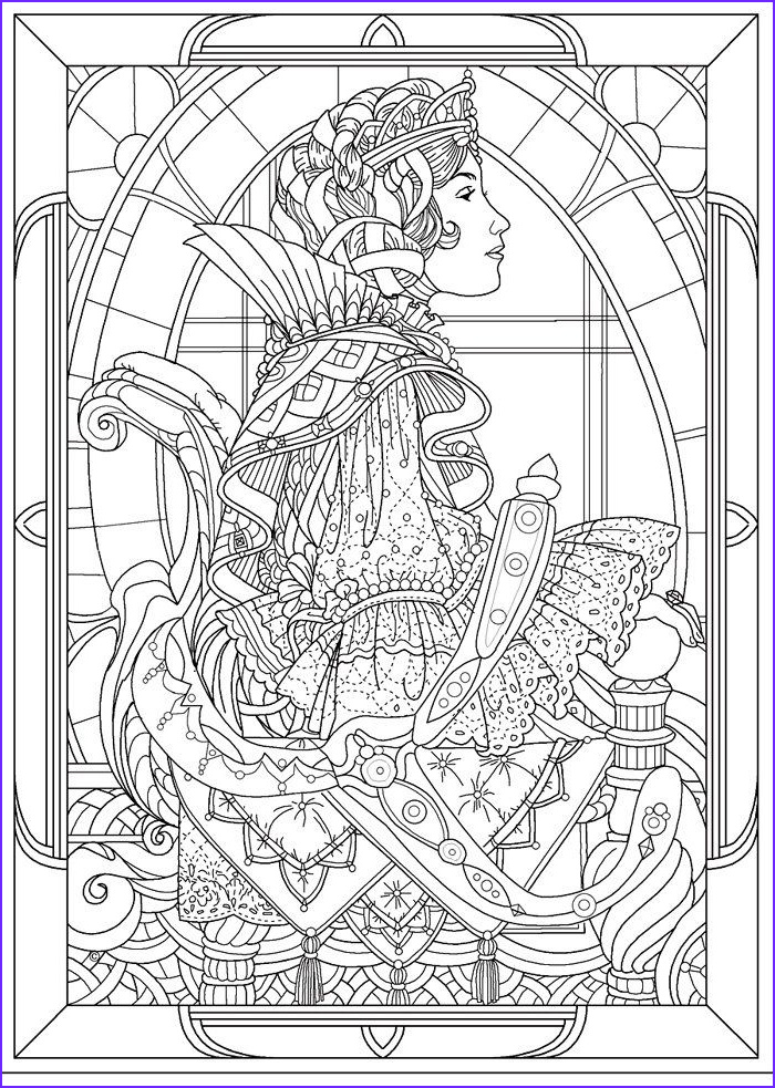 Stained Glass Coloring Pages for Adults Inspirational Collection Princess Coloring Pages King Arthur Clipart