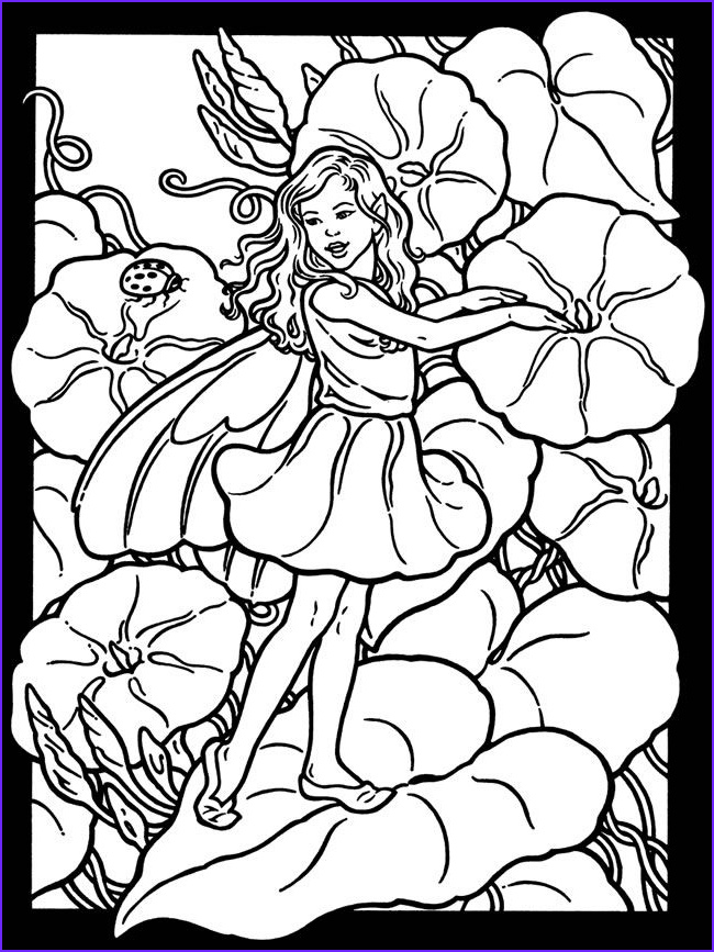 Stained Glass Coloring Pages for Adults Luxury Photos Garden Fairies Stained Glass Coloring Book