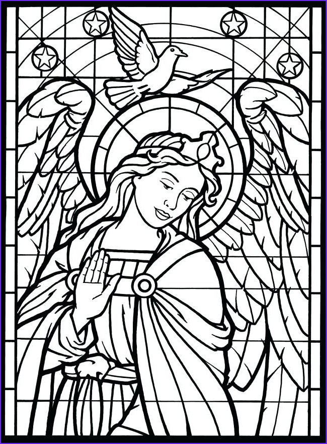 stained glass window drawing