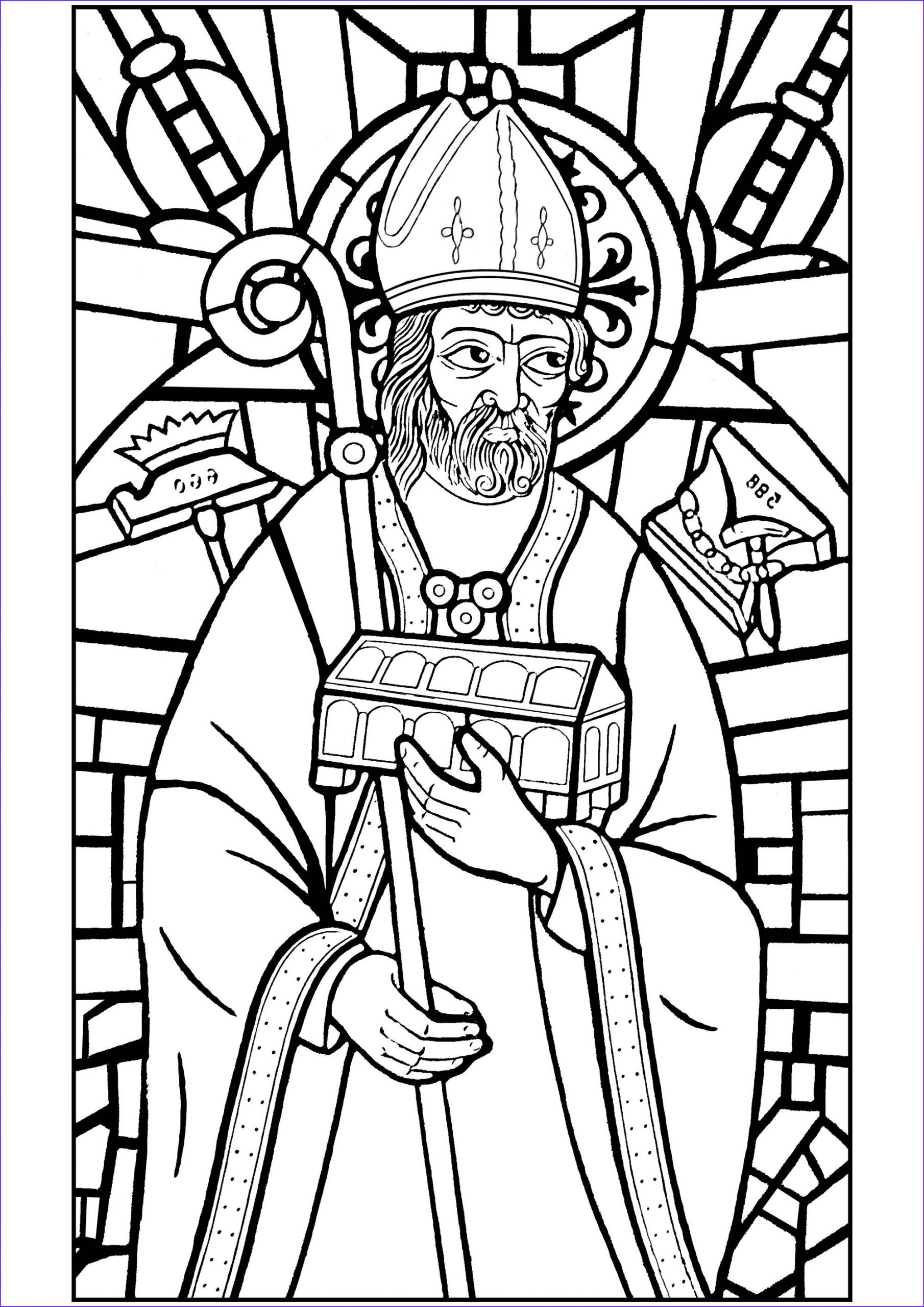 image=vitraux coloring stained glass saint eloi 1