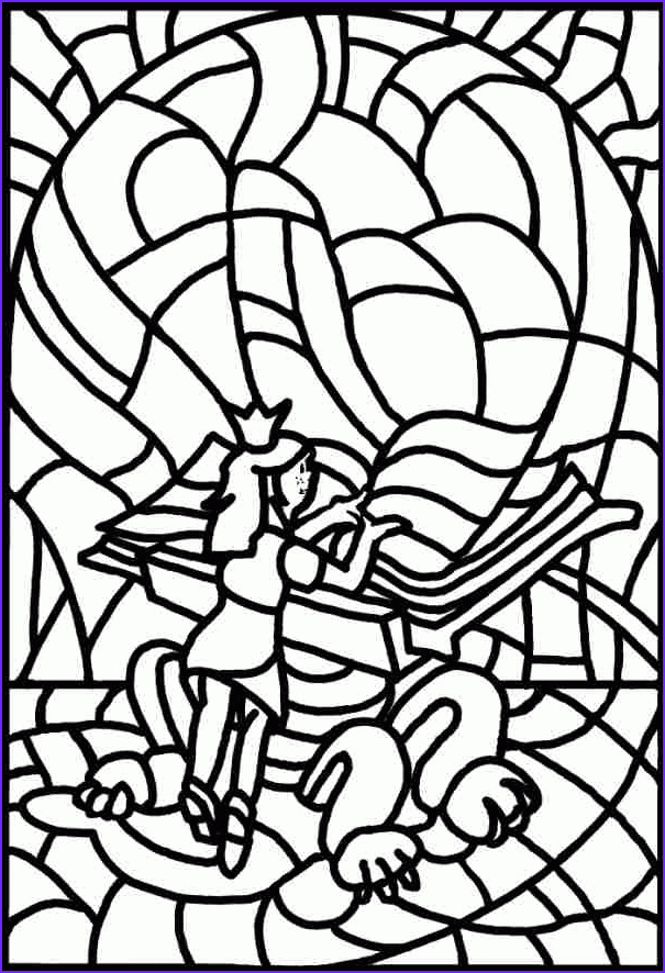 me val stained glass coloring pages