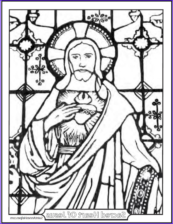 Stained Glass Window Coloring Pages Inspirational Gallery Stained Glass Coloring Page Of Jesus Church Window