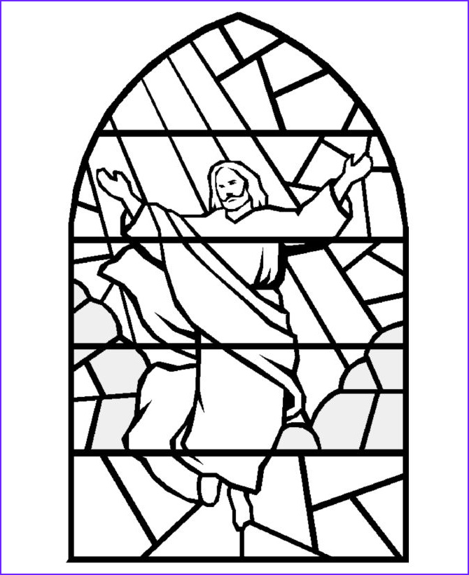 Stained Glass Window Coloring Pages New Photos Bible Coloring Pages Stained Glass Jesus Coloring Pages