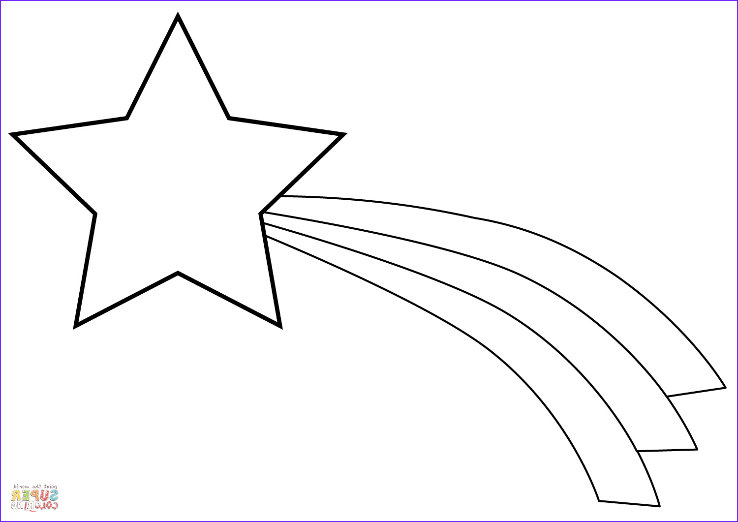 Star Coloring Page Awesome Photos Christmas Shooting Star Coloring Page