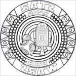 Star Wars Adult Coloring Book Beautiful Gallery Mandala Bb8 R2d2 M&alas Adult Coloring Pages