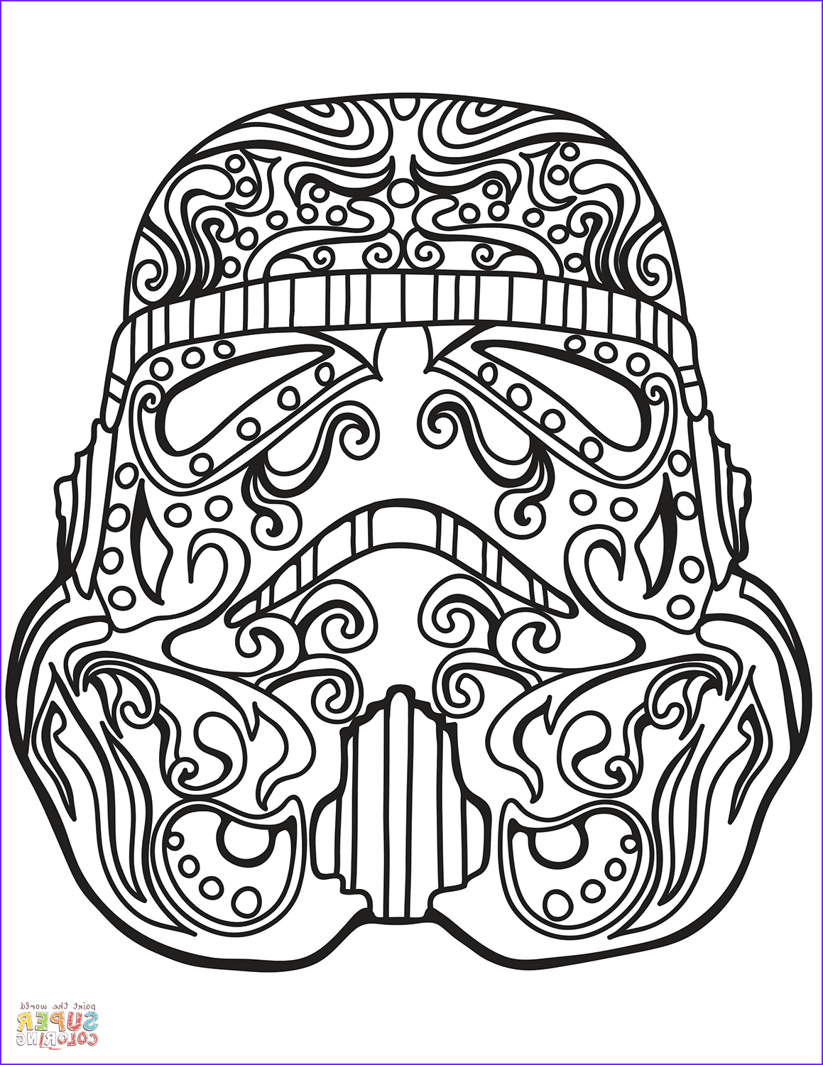 Star Wars Adult Coloring Pages Cool Images Star Wars Stormtrooper Sugar Skull Coloring Page