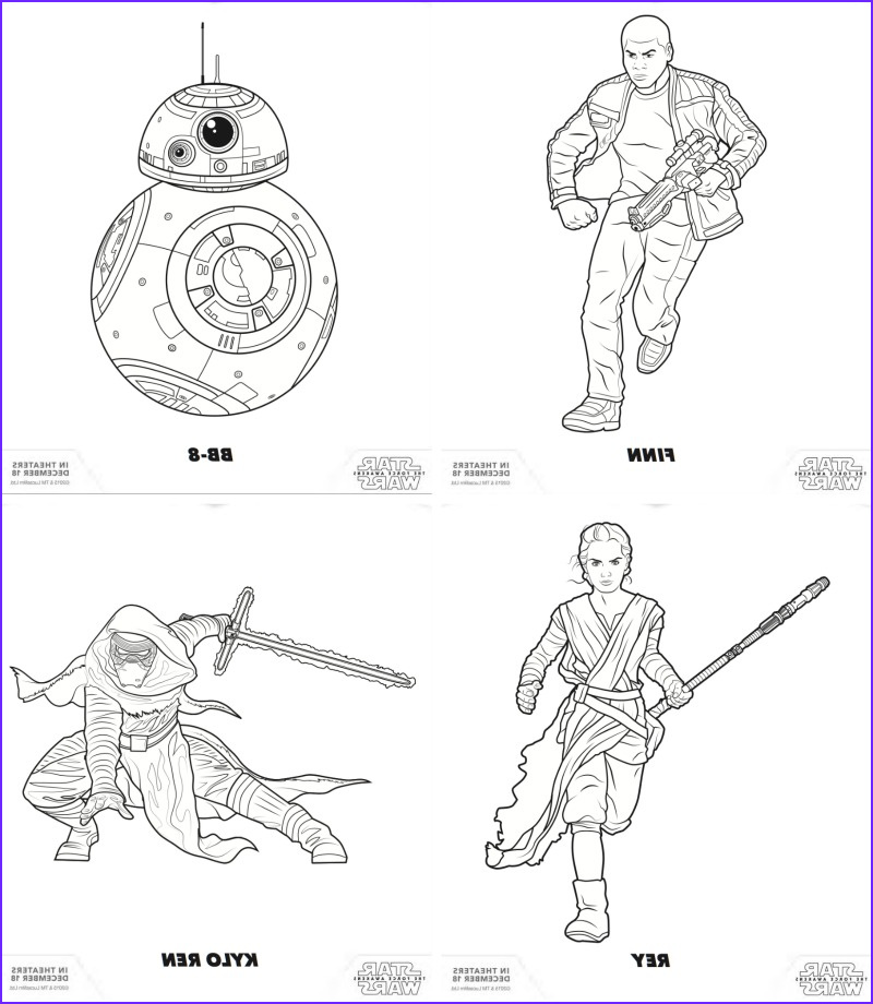 the force awakens star wars free coloring pages