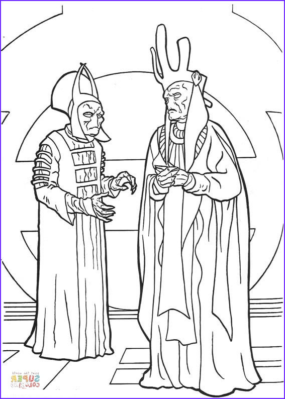 Star Wars Characters Coloring Pages Beautiful Photos Nute Gunray and Rune Haako Coloring Page