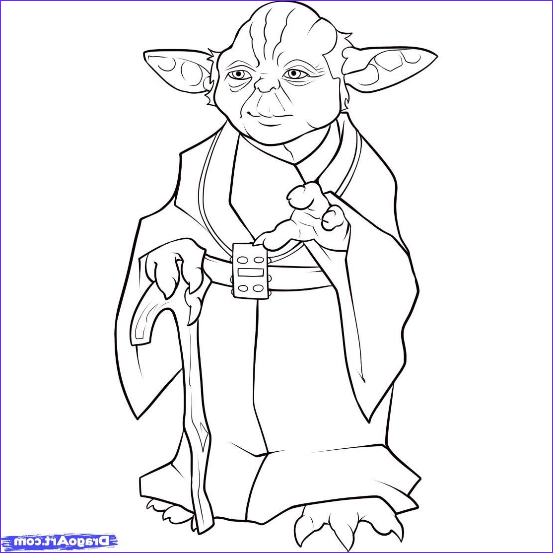 Star Wars Characters Coloring Pages Beautiful Photos Yoda Coloring Page Party Ideas Pinterest