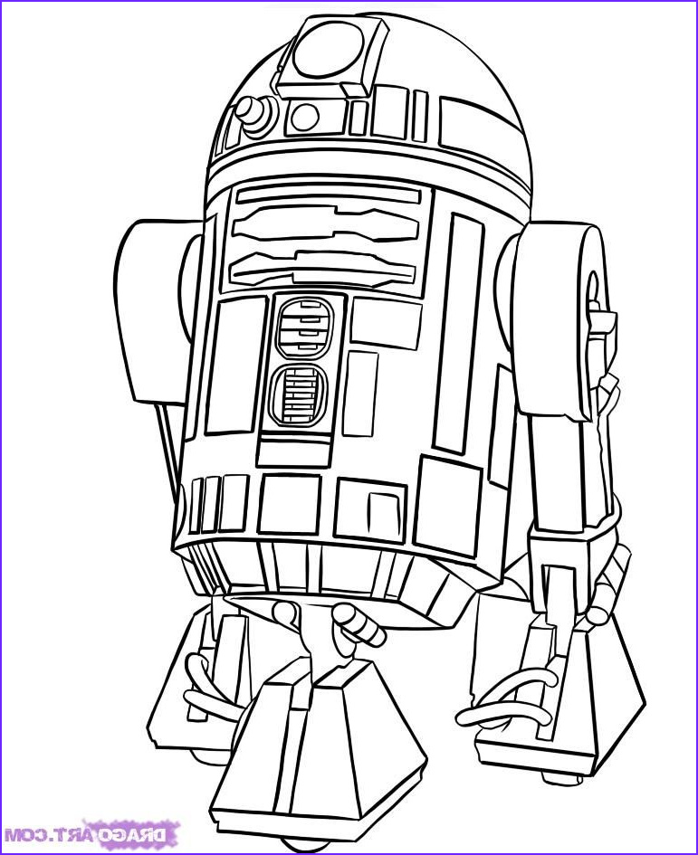 Star Wars Characters Coloring Pages Cool Collection How To Draw R2 D2 Step By Step Star Wars Characters