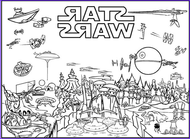 Star Wars Coloring Pages Awesome Collection Ignite Your Creativity with Star Wars Coloring Pages…