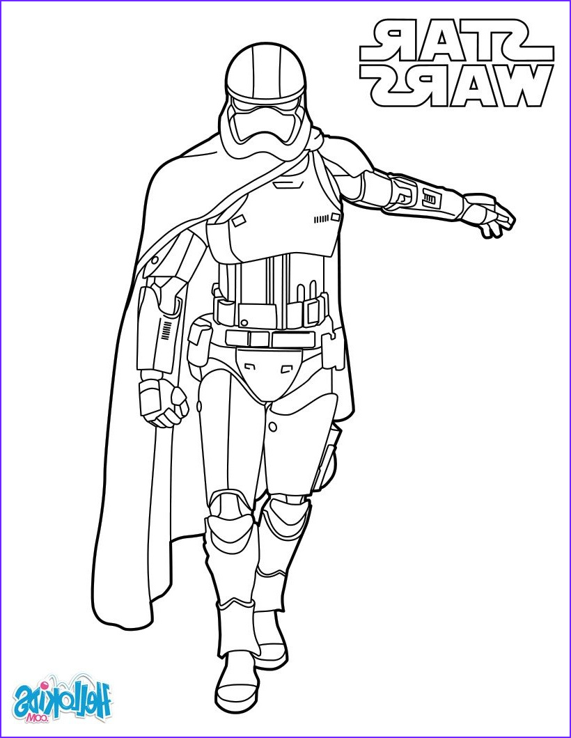 Star Wars Coloring Pages Elegant Photos Capitain Phasma Star Wars Coloring Pages Hellokids