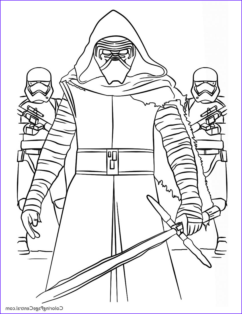 Star Wars Coloring Pages Free Elegant Images Coloring Pages Of Star Wars Star Wars Kylo Ren and First