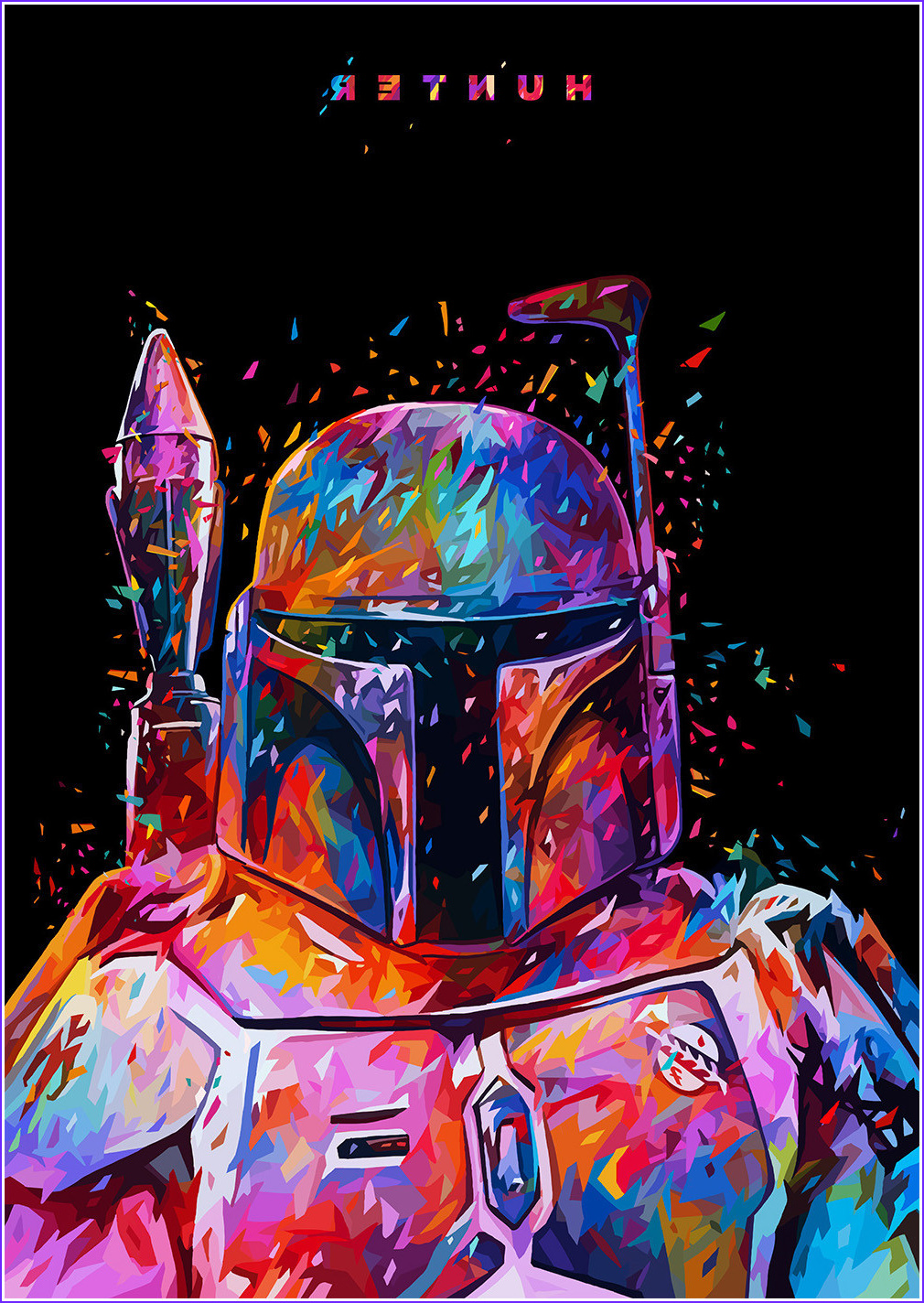 posters abstract color star wars