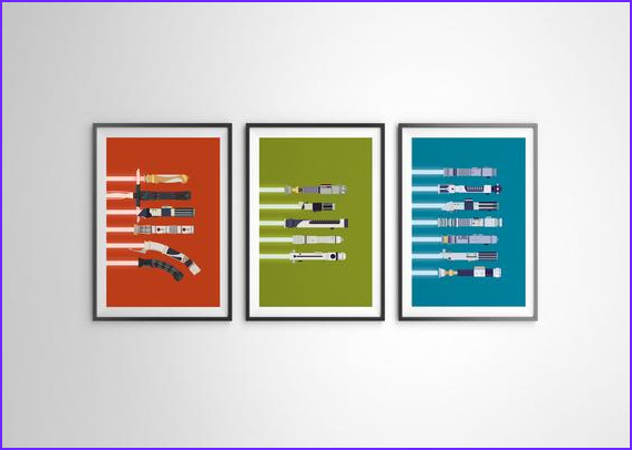 Star Wars Coloring Posters New Collection All 3 Colors Star Wars Rgb Lightsaber Color Poster Series