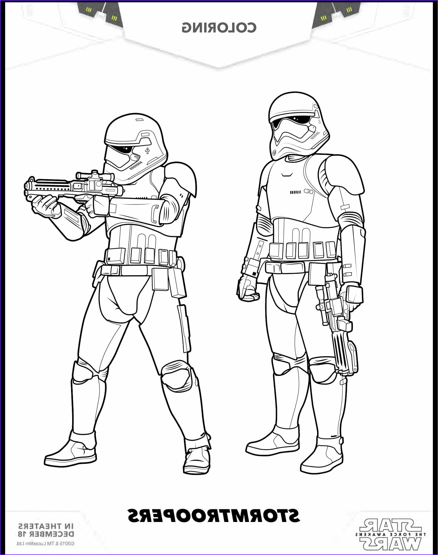 7 free star wars the force awakens coloring pages here