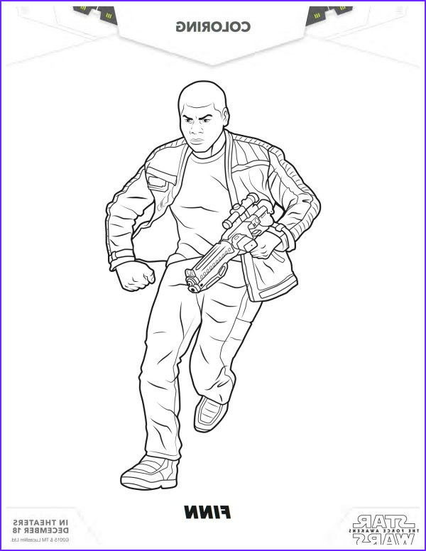 star wars the force awakens printable finn coloring page
