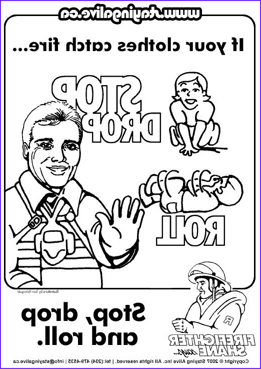 Stop Drop and Roll Coloring Page Awesome Photos Fireman Coloring Sheet for Preschool