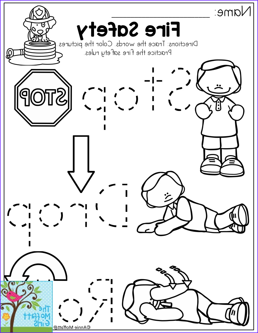 Stop Drop and Roll Coloring Page Beautiful Photos Stop Drop and Roll Fire Safety for the Month Of October