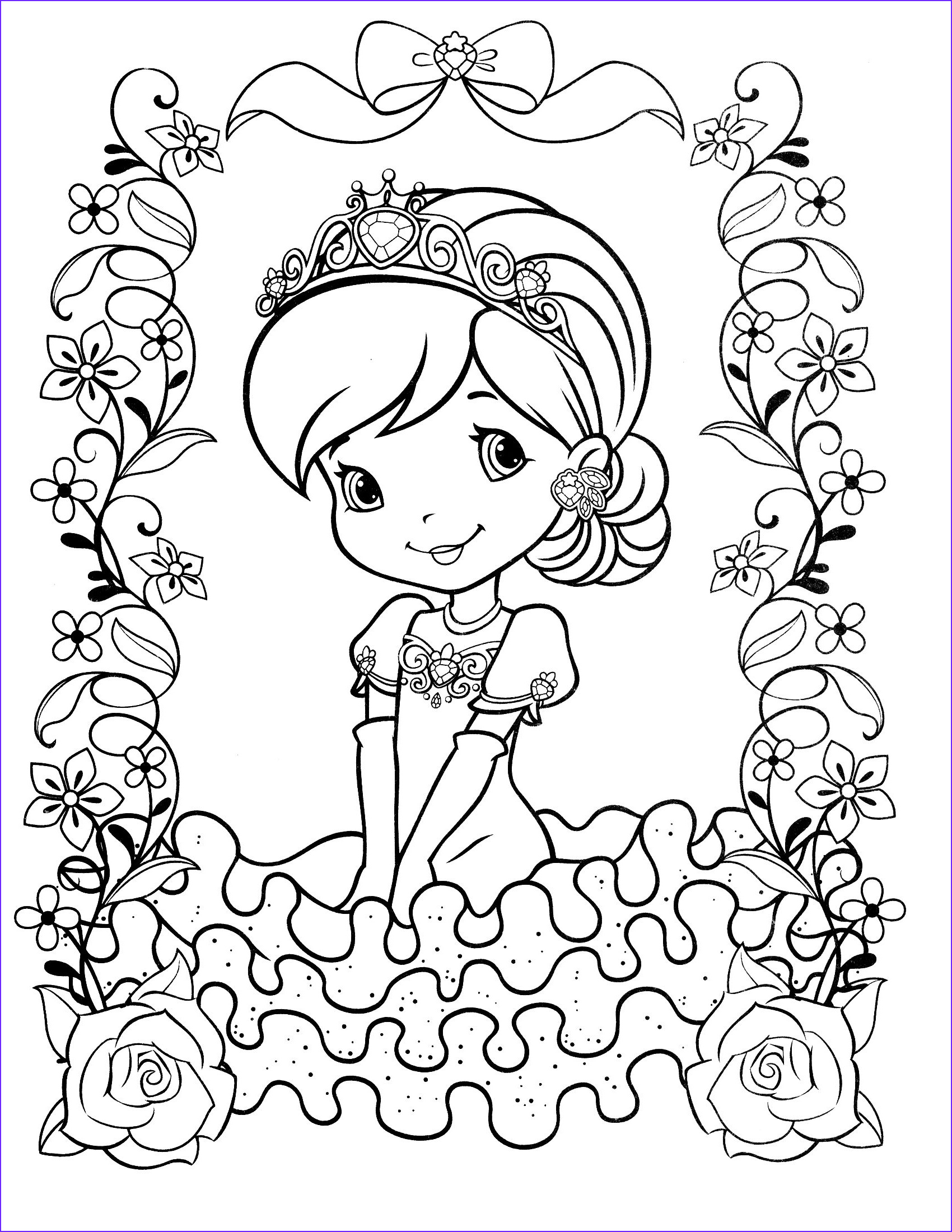 Strawberry Shortcake Coloring Page Cool Image Strawberry Shortcake Coloring Page