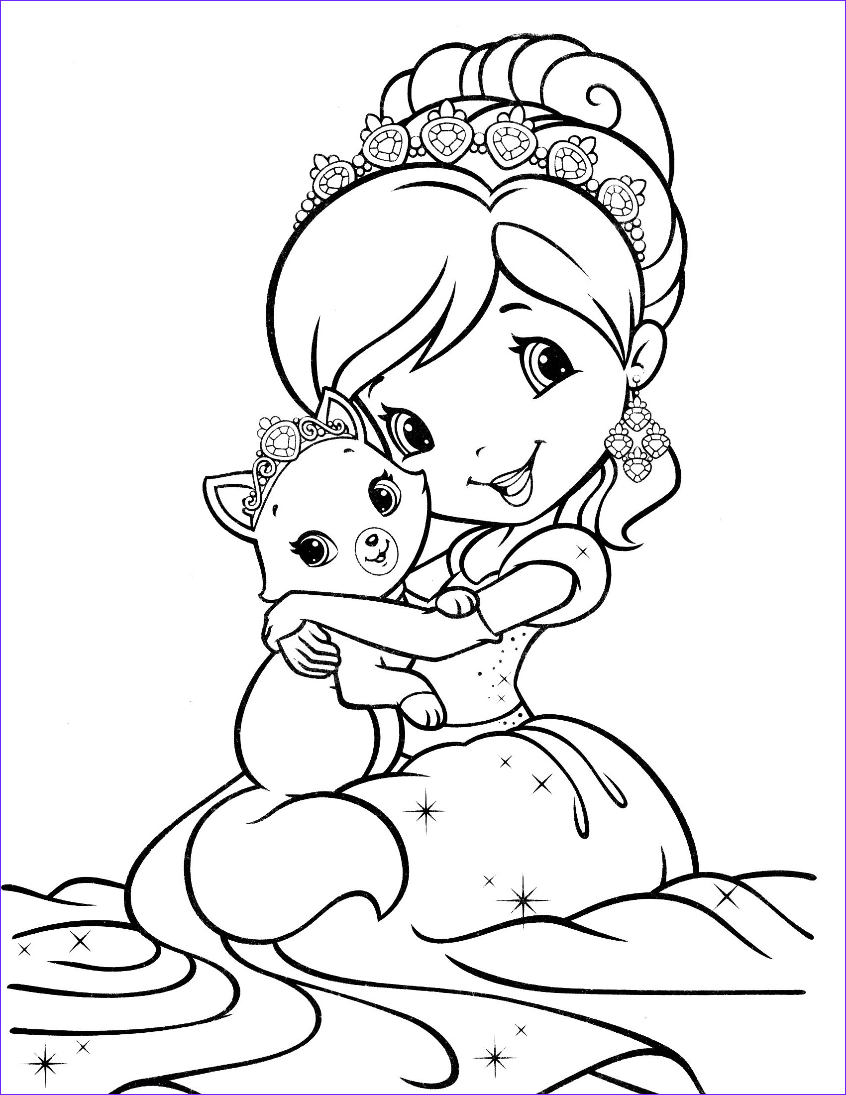 Strawberry Shortcake Coloring Page New Gallery Strawberry Shortcake Coloring Page 38 1700×2200
