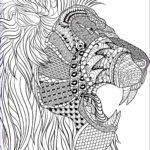 Stress Coloring Books For Adults Best Of Collection Lion Adult Anti Stress Coloring Pages Printable