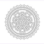 Stress Relief Coloring Books New Collection 22 Printable Mandala & Abstract Colouring Pages For