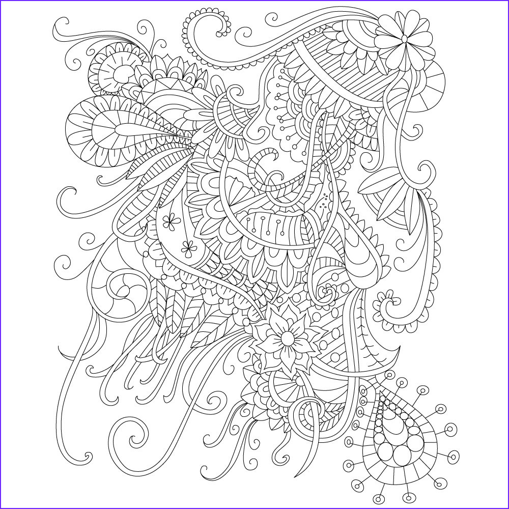 Stress Relieving Coloring Pages Elegant Photos Adult Coloring Page Of Abstract Doodle Drawing for Stress